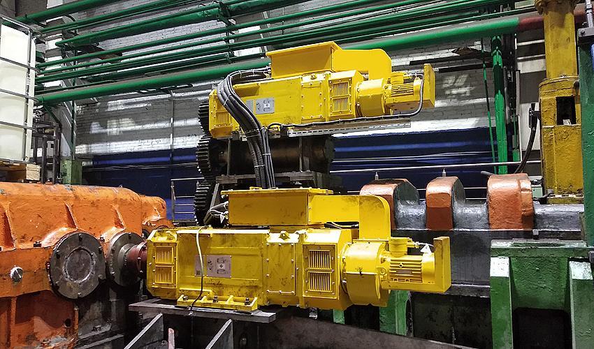 Синхронные реактивные электродвигатели производства ГК «Приводная техника» на стане холодной прокатки труб